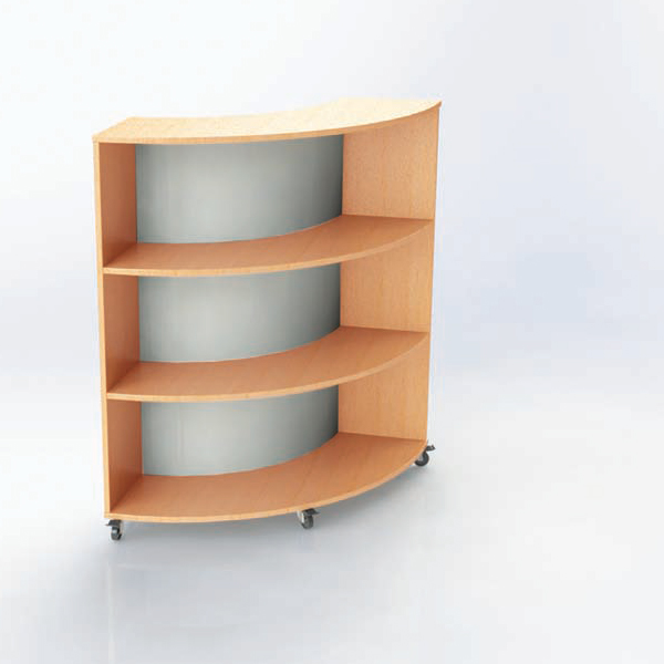 Single And Double Sided Curved Bookcases