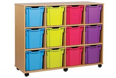 12 Jumbo Tray POP Storage Tray Unit