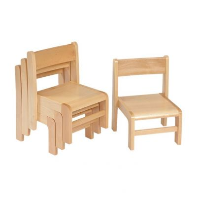 Solid Beech Stacking Chairs