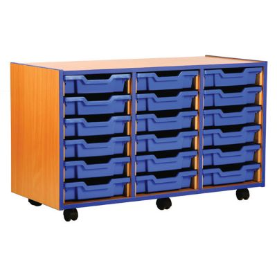 Coloured Edge Tray Shallow Storage Units