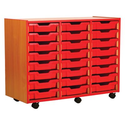 Coloured Edge Tray Storage Units