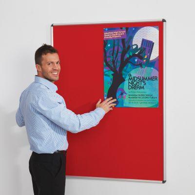 Shield Design Noticeboard - Aluminium Frame