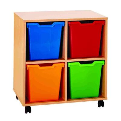 4 Jumbo POP Storage Tray Unit
