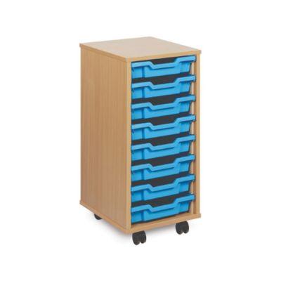 8 Shallow Tray Mobile Storage Unit