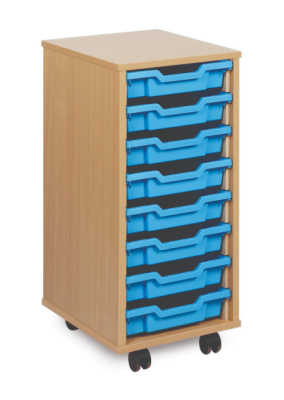 8 Shallow Tray Mobile Storage Unit