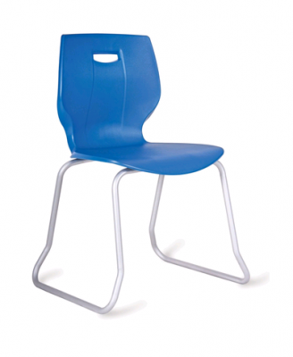 Geo Poly Skid Base Chair