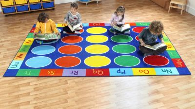 Alphabet Rectangular Rainbow Carpet