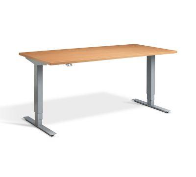 Advance Sit Stand Desk - Silver Frame