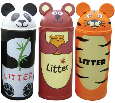 Animal Kingdom Litter Bins