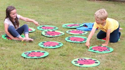 Back to Nature Ladybird Counting Outdoor Play Mats