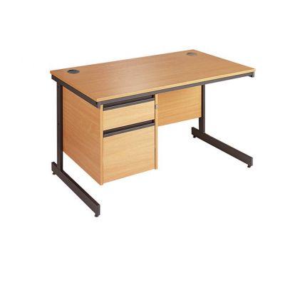 Berkeley Cantilever Leg Single Pedestal Desk
