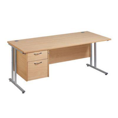 Berkeley Deluxe Cantilever Frame Single Pedestal Desk