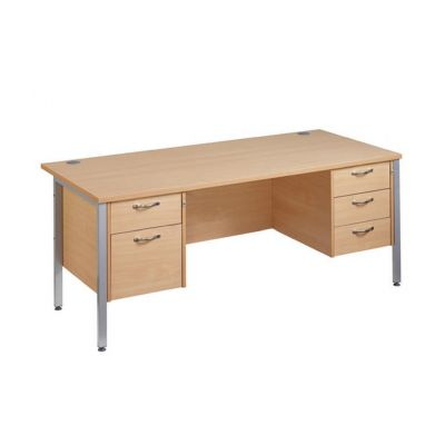 Berkeley Deluxe 'H' Frame Double Pedestal Desk