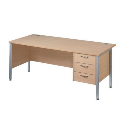 Berkeley Deluxe 'H' Frame Single Pedestal Desk
