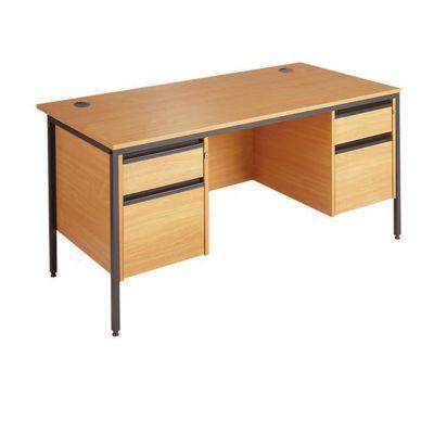 Berkeley H Frame Double Pedestal Teacher Desk