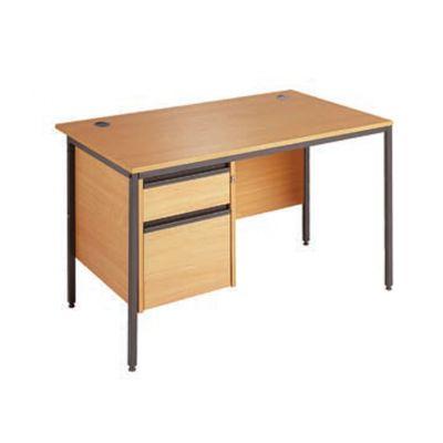 Berkeley H Frame Single Pedestal Teacher Desk
