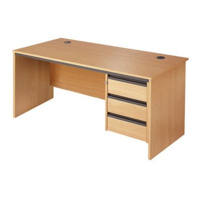 Berkeley Panel End Single Pedestal Desk