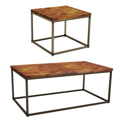 Byron Rustic Pine Coffee Tables