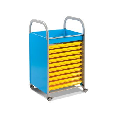 Callero Metal Art Storage Trolley with Trays