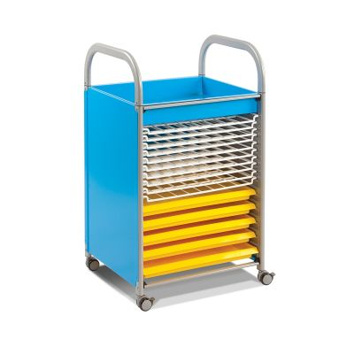 Callero Metal Art Storage Trolley with Drying Racks and Trays