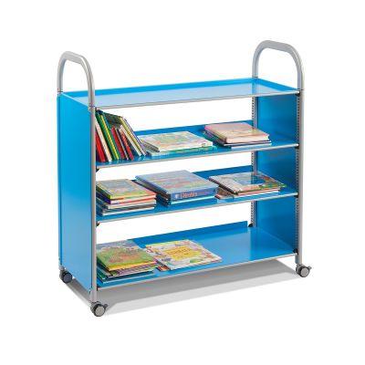 Callero Metal Flat Shelf Trolley