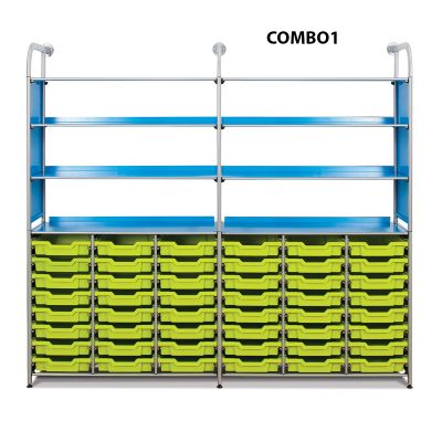Callero Metal Combo Unit with Shallow Trays