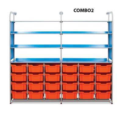 Callero Metal Combo Tray Unit (Extra) with Deep Trays
