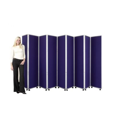 Concertina Mobile Screen 1500mm High
