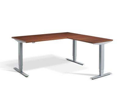 Advance Corner Sit Stand Desk - Silver Frame