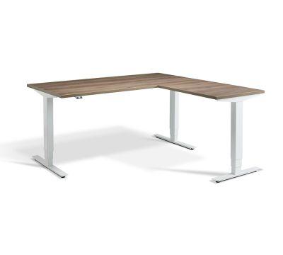 Advance Corner Sit Stand Desk - White Frame