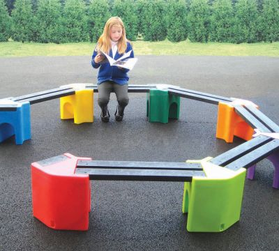 Coloured Learning Curve Seating