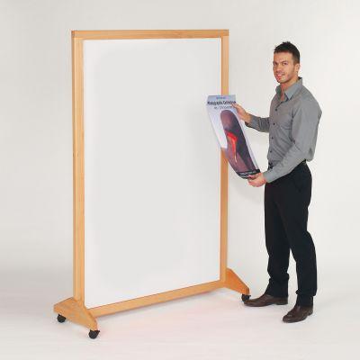 WriteOn Real Wood Mobile Whiteboard