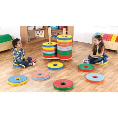 Donut Multi Coloured Cushions & Trolley