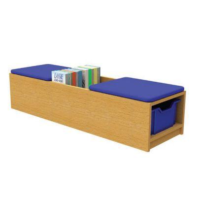 Double Book Seat Storage Unit