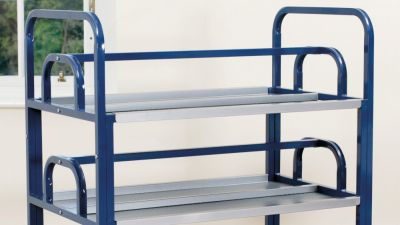 Double Lunchbox Metal Trolley