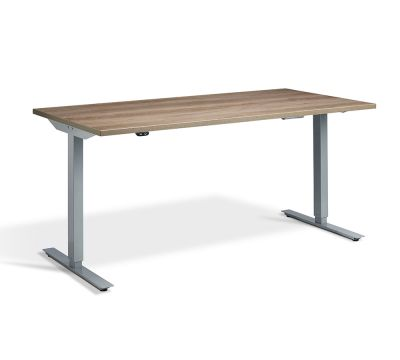 Edge Sit Stand Desk - Silver Frame