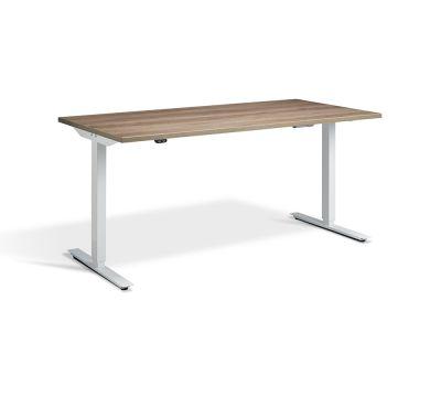 Edge Sit Stand Desk - White Frame