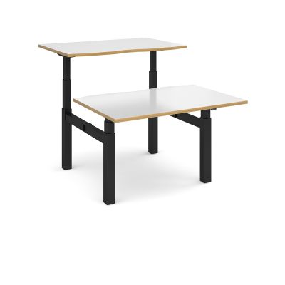 Elev8 Touch Sit Stand Back to Back Desk Black Frame