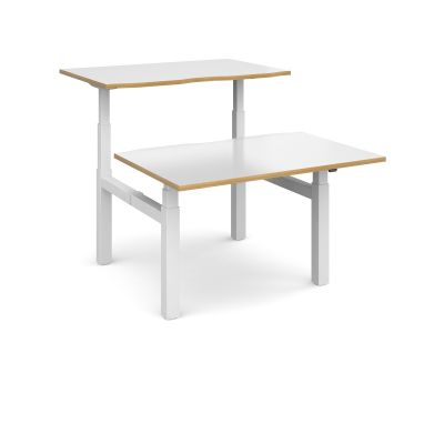 Elev8 Touch Sit Stand Back to Back Desk White Frame
