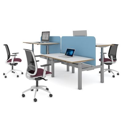 Vibe Elev8 Screens for Back to Back Desks