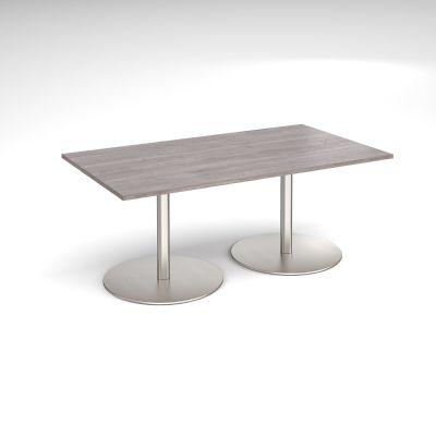 Rectangular Meeting Table on Twin Pedestal Base