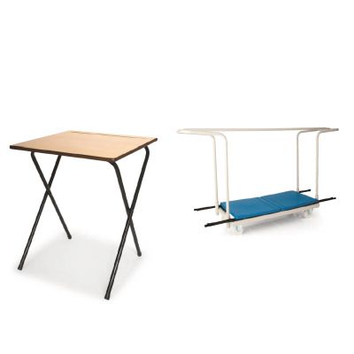 Pack 7 (40 x Exam Desks & 1 Exam Desk Trolley)