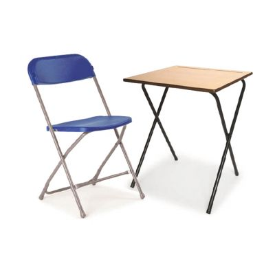 Pack 8 (40 Exam Desks & 40 Flat Back Chairs)