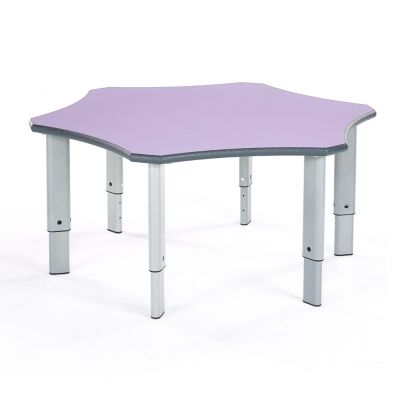 Shaped Height Adjustable Table