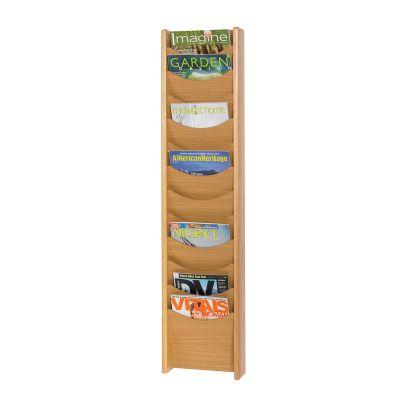 Oak wall and freestanding literature dispenser