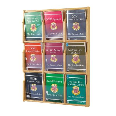 Oak Deluxe Wall Mounted Literature Display