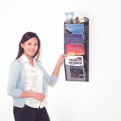 Mesh Wall Mounted Brochure Display