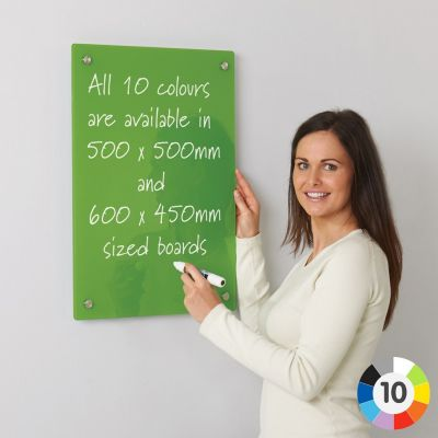 WriteOn Coloured Glass Information Boards