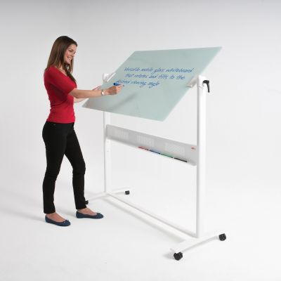 WriteOn Glass Revolving Whiteboard