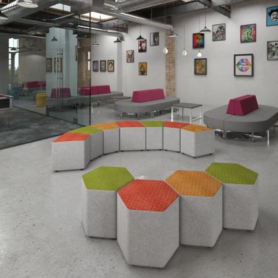 Groove Fabric Breakout Seating